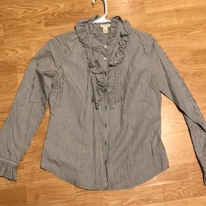 J. Crew Ruffle Button Down